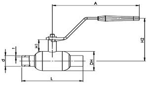 Стальной кран балломакс КШТ схема