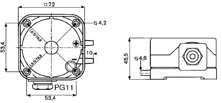Размеры датчика LGW