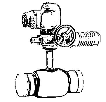 Кран балломакс с приводом АУМА
